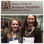 QUT Award winner Georgina Jones and Petrina Fraccaro