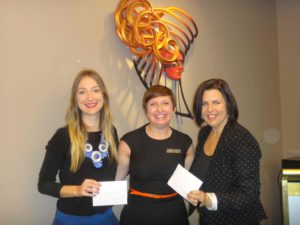 Jessie Westaway of QWWS, Ayesha Murray, acting president of ZBB, and Natalie Davidson of WLS.