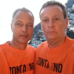 Richard and Graeme in Positano