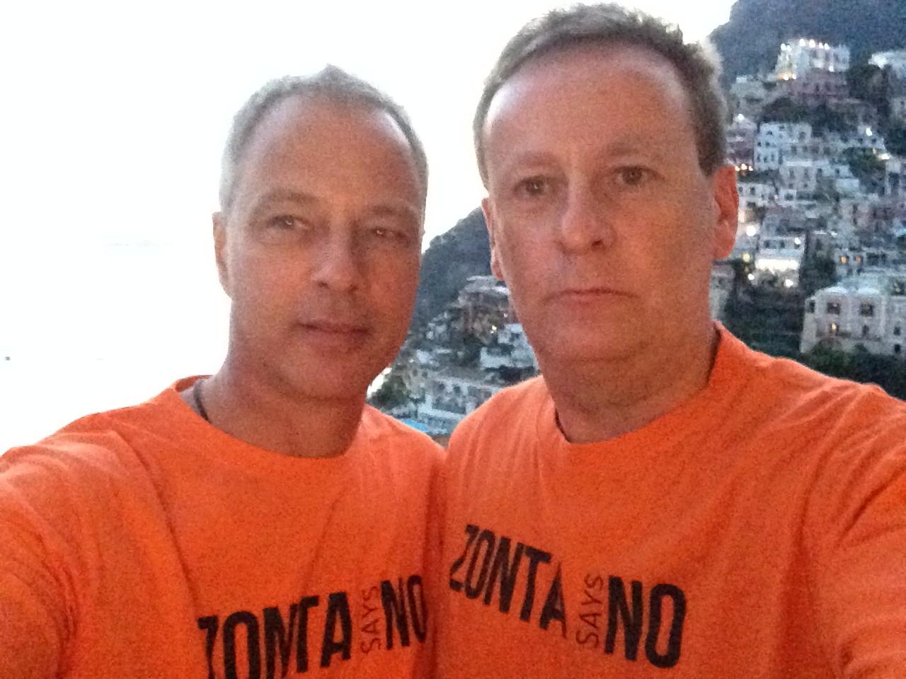 Richard and Graeme in Positano